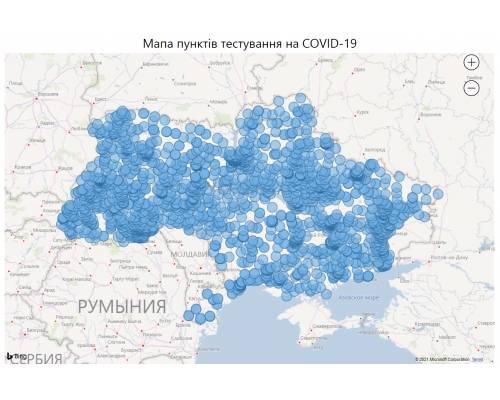Мапа пунктів тестування